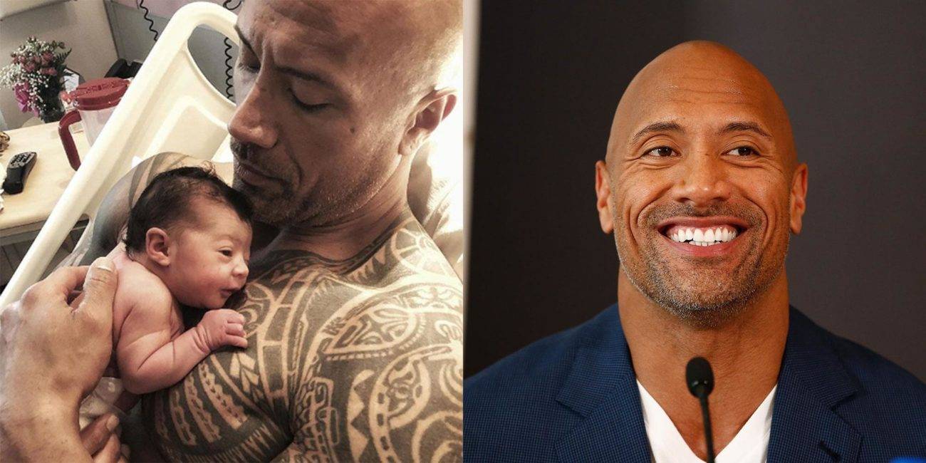 The Rock Johnson with his daughter