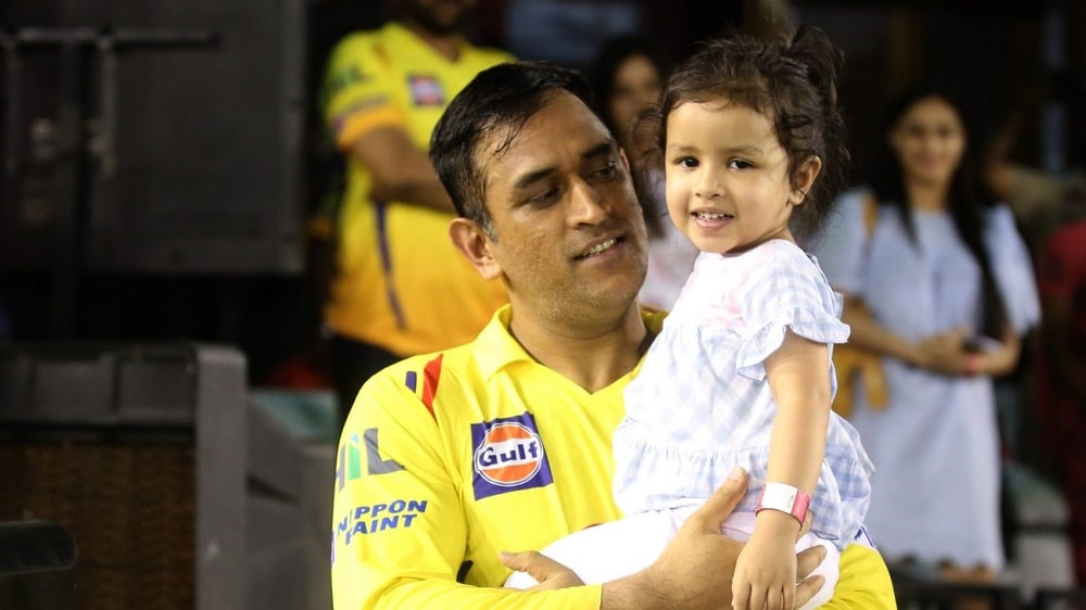MS Dhoni With Ziva