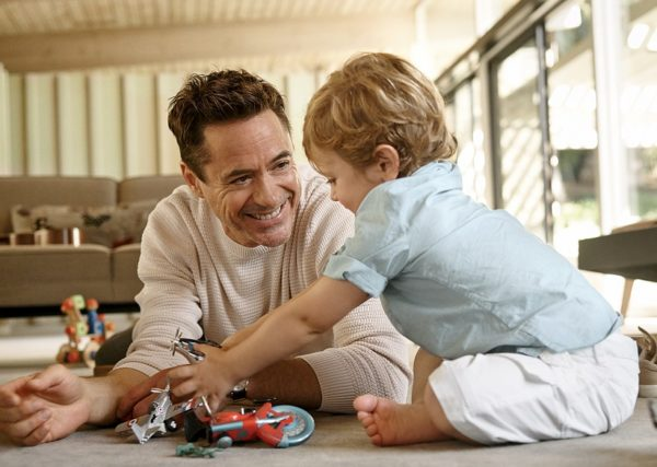 Robert Downey With Son Exton Downey