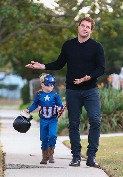 Chris Pratt with his son Jack