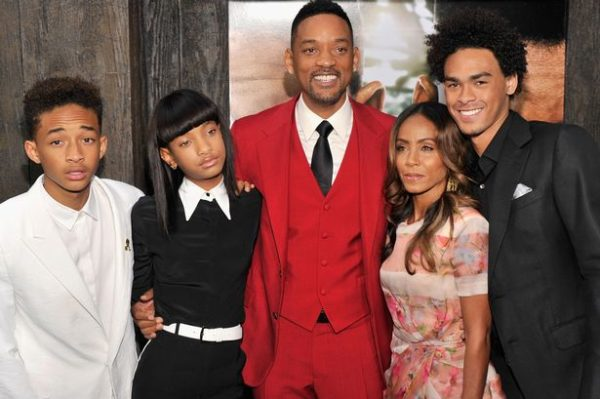 Will Smith and Jada with kids