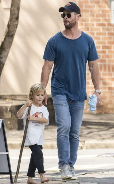 Chris Hemsworth with his son Tristan