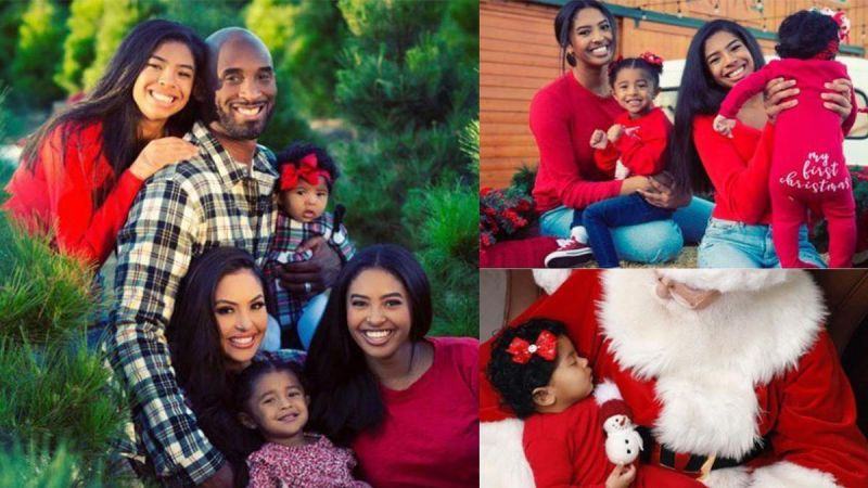 Kobe Bryant with his family