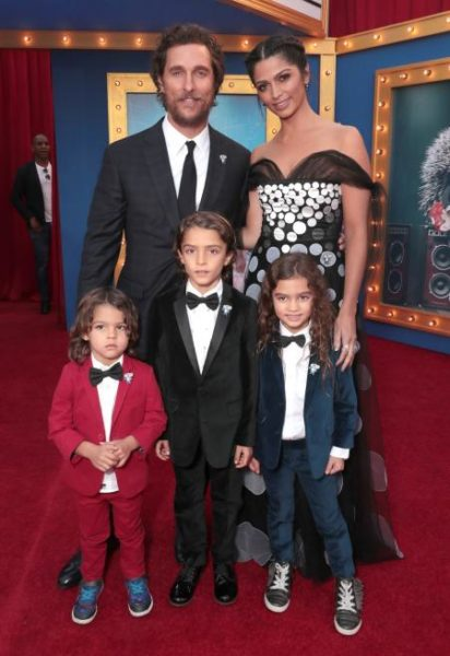 Matthew with his wife and three kids